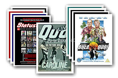 STATUS QUO  - 10 promotional posters - collectable postcard set # 3