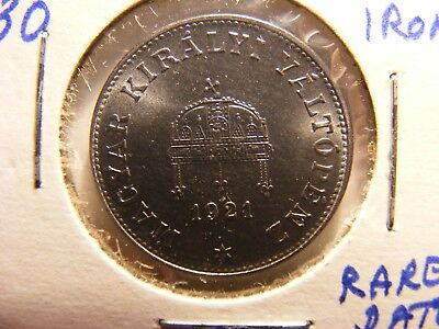 Hungary 20 Filler, 1921, KM#498a, Iron  Proof, Authorized Restrike
