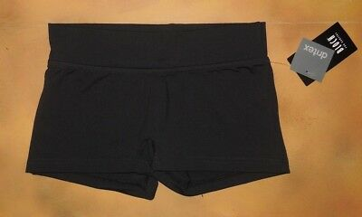 NWT Dance Bloch Black Booty Shorts Wide Waistband Ladies Small Adult R6914