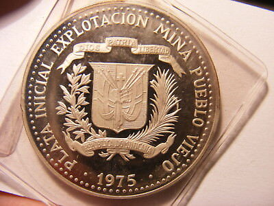 Dominican Republic, Silver Proof (toned) 10 Perso, One Year Type, Mint Sealed
