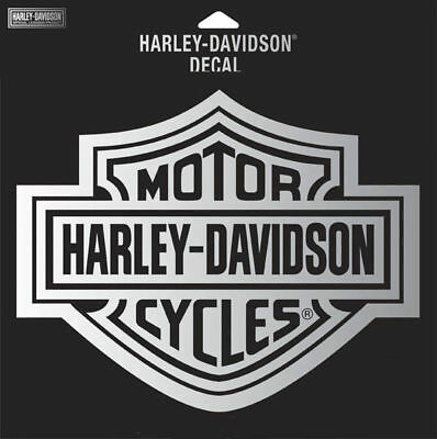 "Harley Davidson Chrome B&s Decal  2 1/4"" Inch  Decal"