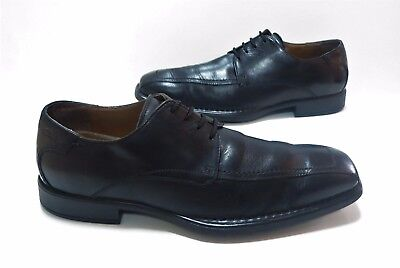 MENS CLARKS flexlight Smart black leather Lace up Shoes Size 8 Exc Cond