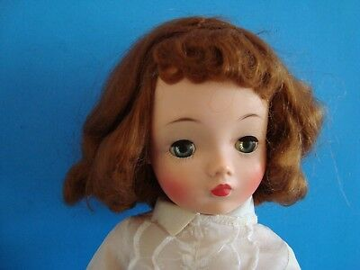 Vintage 1950's  Madame Alexander Cissy Doll With Red Hair Needs Tlc