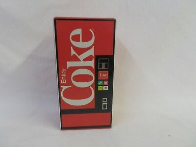 Vintage Coca Cola Vending Machine Coin Bank Handkerchief Collectible Metal Tin