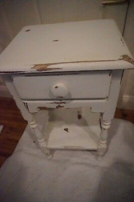 Vintage Shabby Accent Table  Nightstand End Table