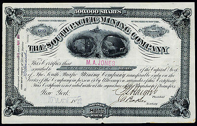 South Pacific Mining Co., 1881 Issued Stock