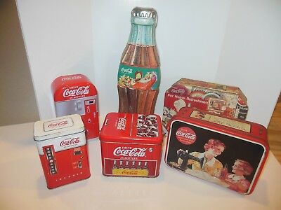 Lot of 6 COCA COLA TINS Collection
