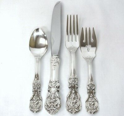 4pc Vintage FRANCIS I Reed&Barton STERLING Silver PLACE SETTING Flatware Set L1