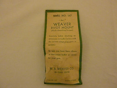 Ruger Winchester Pivot Scope Mount #147 Enfield Weaver Cooey 71
