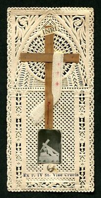 Santino 240 Reliquia Relic - Holy Card Image Pieuse - Pizzo Lace Edged Canivet