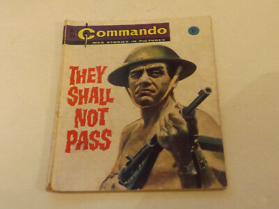 Commando War Comic Number 74!,1963 Issue,fair For Age,55 Years Old,very Rare.