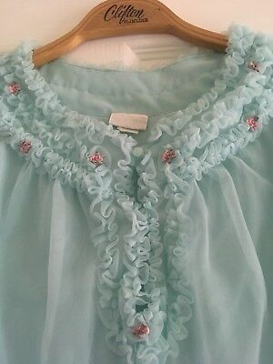 """Vintage Babydoll Frilly Nightie Double Layer St Michael bust 34"""" 36"""" length 37"""""""