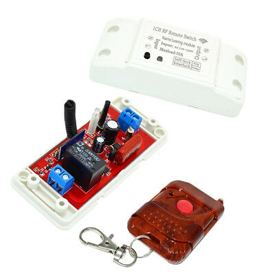 1CH 220V 433M Wireless RF Remote Relay Switch Receiver with Remote Control