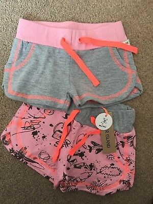 Girls. River Island. Brand New With Tags. 2 Pairs Of Shorts. 0-3 Months