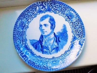 Large Antique Blue & White Plate by Wood & Sons, 'Old Saying'?