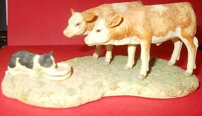 "Border Fine Arts Jh83A  Figurine ""who's Milk Is It?- Every Living Thing"