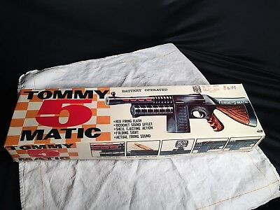 Toy Makers Japan Maschinenpistole Tommy 5 Matic in OVP unbespielt um 1970