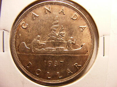 Canada 1937 Silver Dollar, Uncirculated w/tone, KM#37, First Year of Series