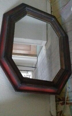 overmantel wall mirror, wood framed glass