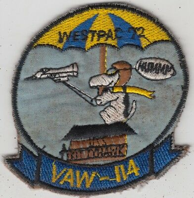 US Navy VAW-114 Carrier Airborne Early Warning Sqn Vietnam Patch E-2A Hawkeye