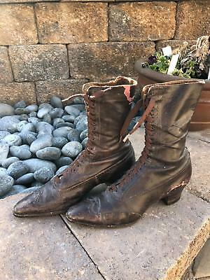 ANTIQUE 1800's MENS LEATHER SHOES/BOOTS...   great condition!   VICTORIAN ERA
