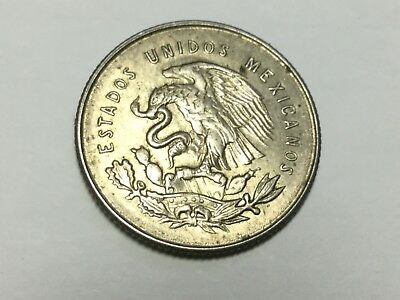 MEXICO 1951 25 Centavos silver coin extra fine condition