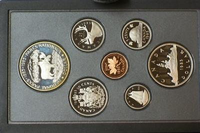 1985 CANADIAN PROOF SILVER DOUBLE DOLLAR SEE KNOWN AS A PRESTIGE SET glb