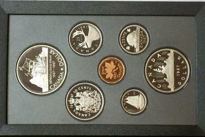 1987 CANADIAN PROOF SILVER DOUBLE DOLLAR SET ALSO KNOWN AS A PRESTIGE SET glb