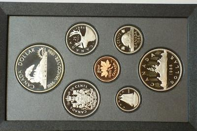 1986 CANADIAN PROOF SILVER DOUBLE DOLLAR SET KNOWN AS A PRESTIGE SET glb