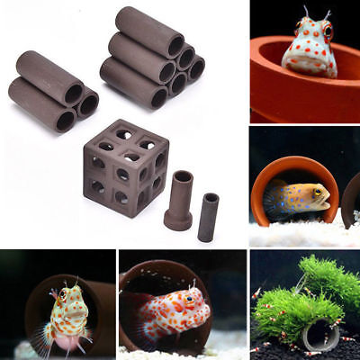 19 Styles Aquarium Tank Tube Breeding Hiding Cave Shelter Fish Shrimp Live Plant