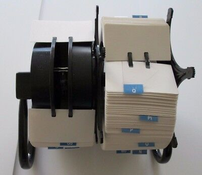 Desk Rolodex Style Double Side Rotary A-Z Index Business Card File-Full of Cards