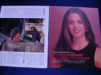 1990-1994 Eliza Dushku Japan 12 Clippings TRUE LIES Arnold Schwarzenegger