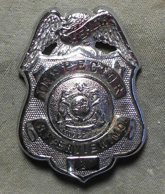 Riverview MO Health Inspector #1 Badge Missouri Signed - S.G. Adams St. Louis