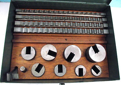 Marlco Keyway Broaches, Metric, Set 2. Complete and in Very Good Condition