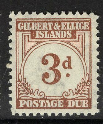 GILBERT & ELLICE IS. SGD3 1940 3d BROWN POSTAGE DUE MNH