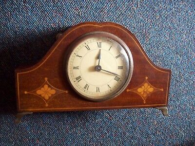 9.5 Inch Wide/inlain Mahogany/edwardian/mantle Clock