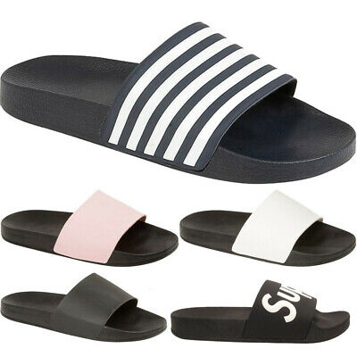 56631015382d Ladies Womens Slip On Gym Beach Sliders Slippers Sports Sandals Summer Shoe  Size