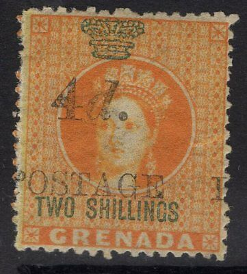 GRENADA SG42 1888 4d on 2/- ORANGE MTD MINT