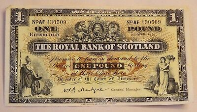 1955 The Royal Bank Of Scotland 1Pound Note
