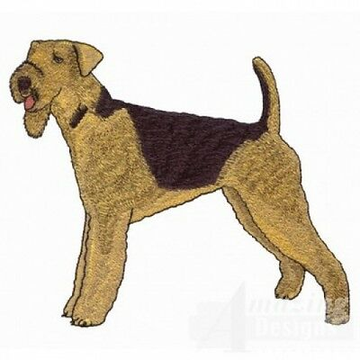 Embroidered Ladies Short-Sleeved T-Shirt - Airedale Terrier AD201