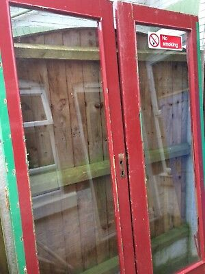 Vintage Reclaimed Old School Double Doors 2 Pairs Rebated Wood & Glass