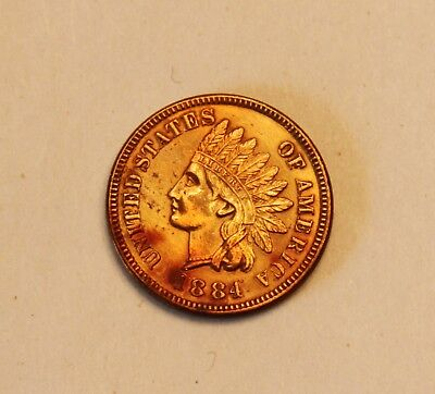 1884 Indian Head Penny in Good Grade Nice Lustre Uncirculated