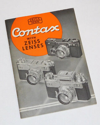 Contax With Zeiss Lenses Book ~ Price Lists Included.