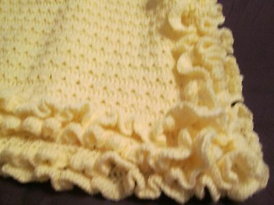 Baby Blanket with Ruffled Edges and Outfit in  Yellow NEW