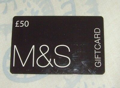 £50 Marks And Spencer M&s Gift Voucher Gift Card