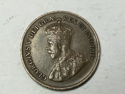 CANADA 1934 1 Cent coin nice condition