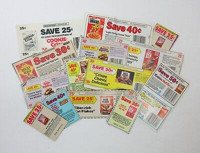 Vintage 70s 80s Lot of 15 Grocery Store Coupons No Expiration Date Cereals