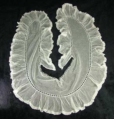Antique Large Lace Collar From Old Estate Sale