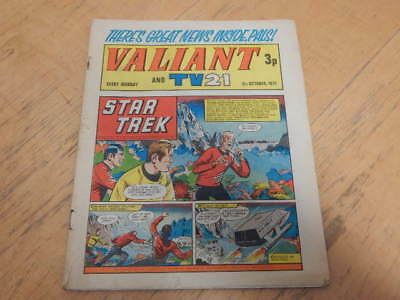 VALIANT And TV 21 Comic 9th October 1971