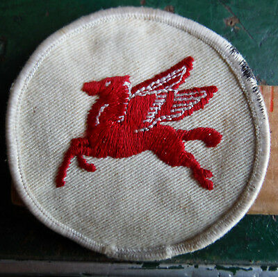 Vintage Embroidered Pegasus Logo Mobil Oil Company Gas Patch